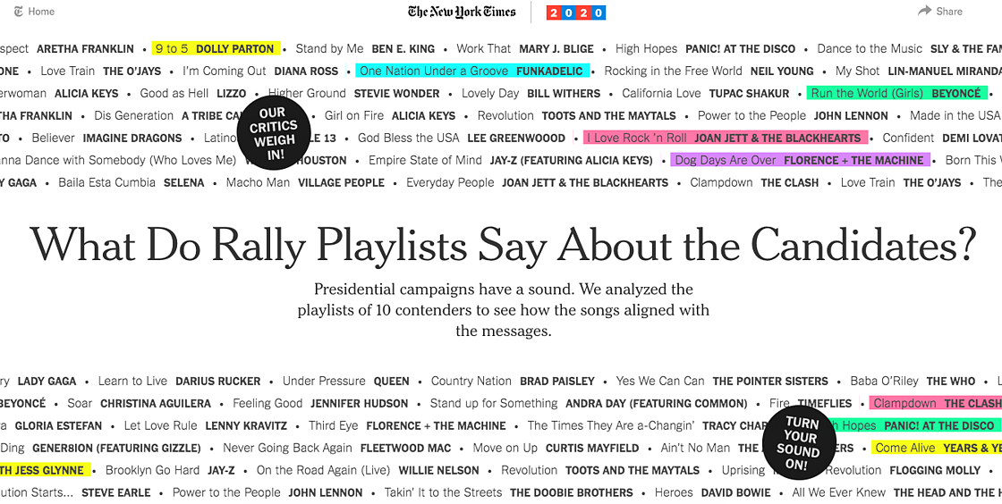 NYT Rally Playlist Content