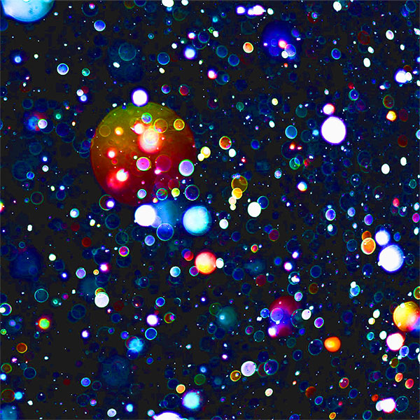 Shining, colorful orbs of light