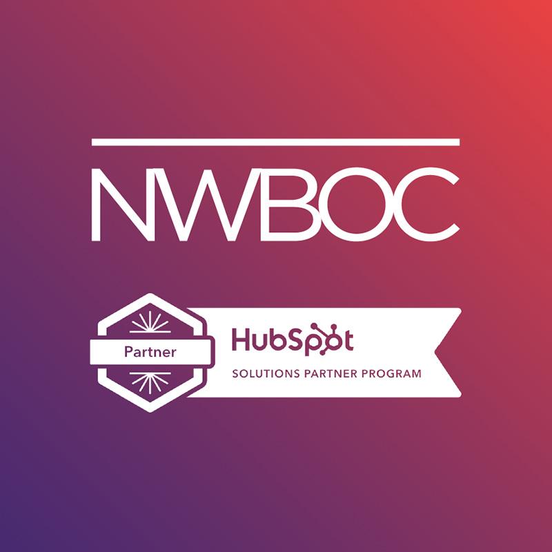 NWBOC Badge and Hubspot Partner Badge