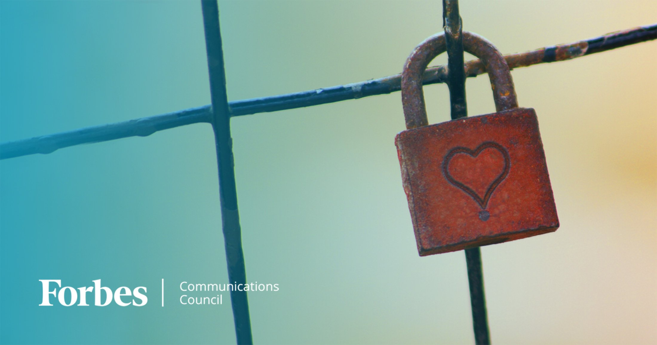 Heart Padlock with Forbes Communications Council Logo
