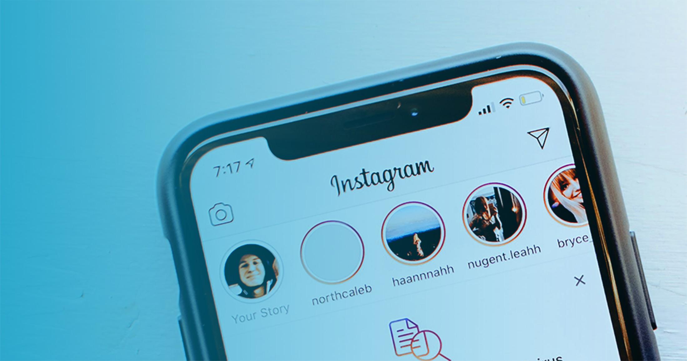 Close up of Instagram Stories on Instagram