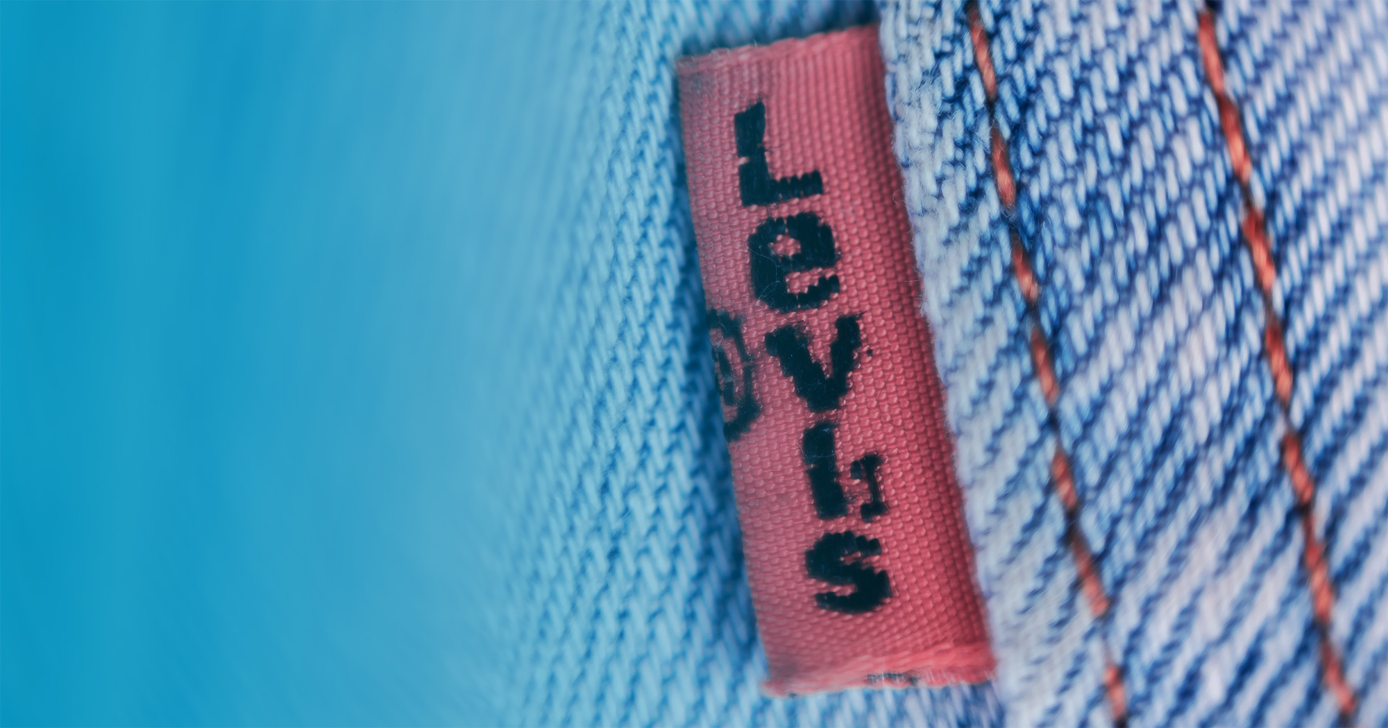 Close up of Levi's tag on jeans