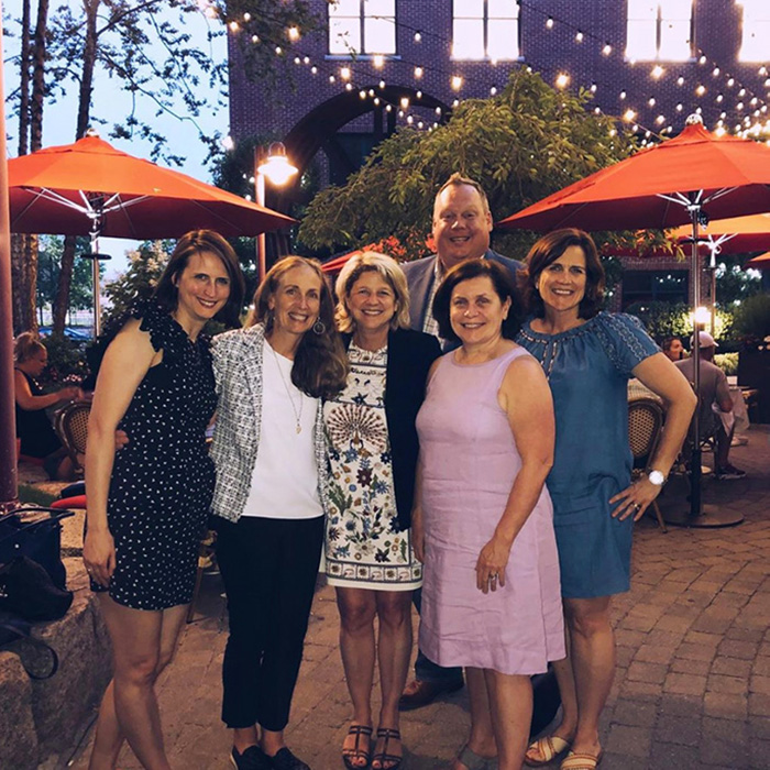 Photo of company gathering at restaurant