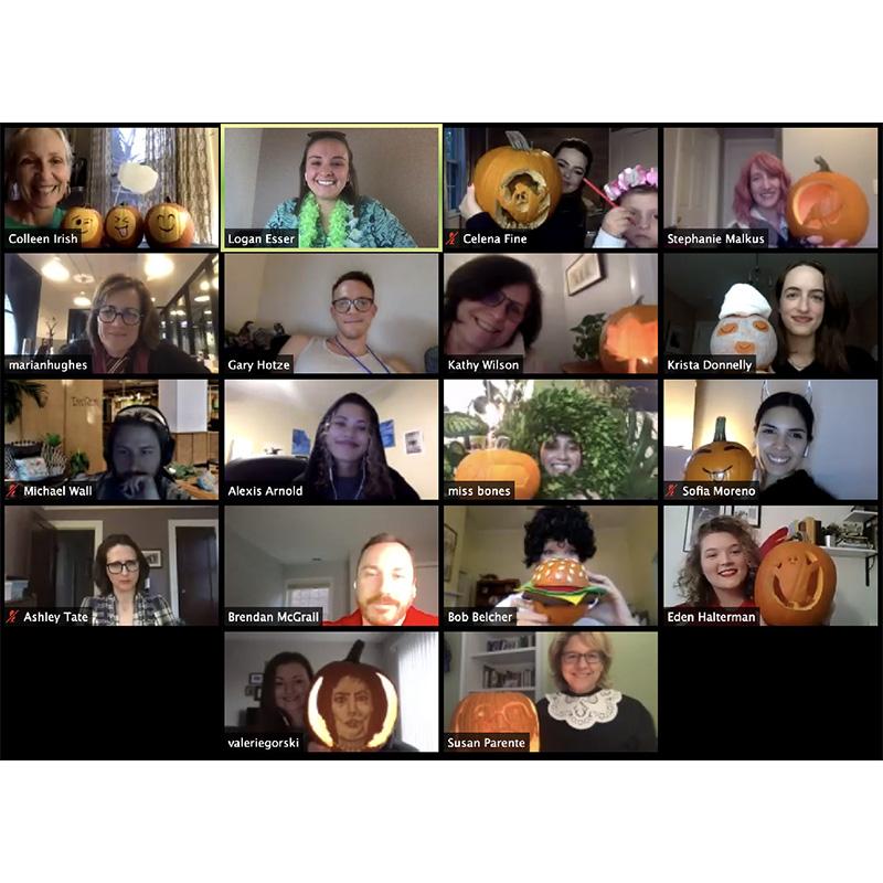 Zoom halloween party
