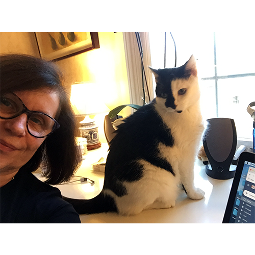 Kathy Wilson, picture with pet cat